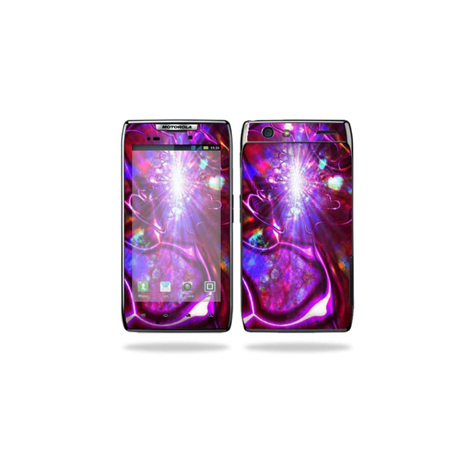 Protective Vinyl Skin Decal Cover for Motorola Droid Razr Android Smart Cell Phone Sticker Skins   Crimson Trip