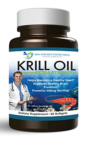 Doctor Recommended Krill Oil Extra Strength Capsules, 60 Count