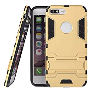 Jma Graphic Designed Kick Stand Hard Dual Rugged Armor Hybrid Bumper Back Case Cover For Apple iPhone 7 Plus 5.5 inch - Gold