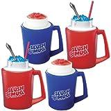 Slush Mugs Frozen Beverage Red Slushie Cups (Set of 4) - Amazing Slushees!
