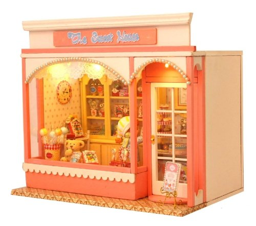 Maison de poup?e miniature kit main travail ? la main mis Bonbons Candy House La maison rose bonbon [GreeParty] (japon importation)