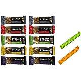 Kind Bars, Strong Bars Variety Pack (Pack of 10), BONUS!! 2 BAG CLIPS FREE
