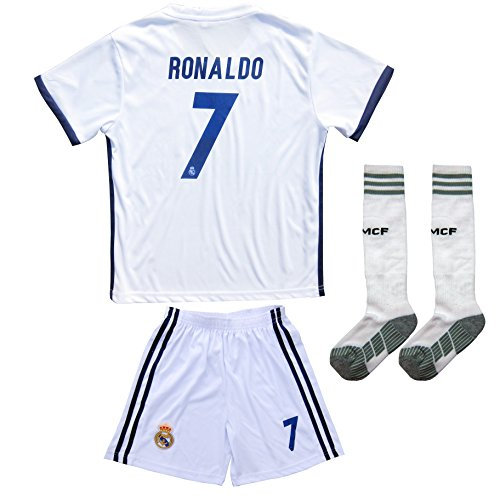 new arrival 95c90 783b5 2016/2017 REAL MADRID #7 RONALDO KIDS HOME SOCCER JERSEY ...