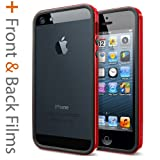 Spigen SGP10026 Neo Hybrid EX Slim Vivid Case for iPhone 5/5S - 1 Pack - Retail Packaging - Dante Red