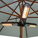 Outsunny Folding Infrared Patio Umbrella Heater - Black