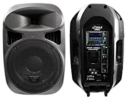 PYLE-PRO PPHP1299AI - 12-Inch 1,000-Watt Powered 2-Way Full Range Loud Speaker System w/Built in MP3 /USB & Ipod Dock