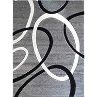 Modern Area Rug Design # H 286 Gray