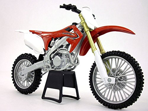 Honda CRF-450R Dirt/Motocross 1/12 Scale Motorcycle Model (Honda Crf 450r Parts compare prices)
