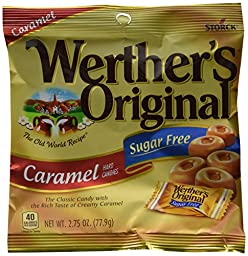 Werther\'s Original Hard Candy, Caramel Sugar Free, 2.75-Ounce Bags (Pack of 12)