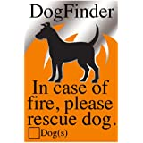 Dog Pet Rescue Sticker Fire and Emergency Pet Notification - Adhesive Backed