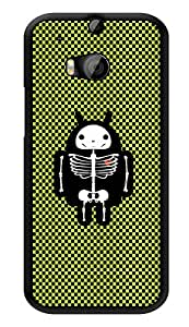 "Humor Gang Electrified Skeleton Pattern Printed Designer Mobile Back Cover For ""HTC ONE M8 - HTC ONE M8S"" (3D, Glossy, Premium Quality Snap On Case)"