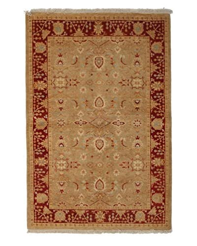 Darya Rugs Ottoman Oriental Rug, Red, 4′ 3″ x 6′ 3″