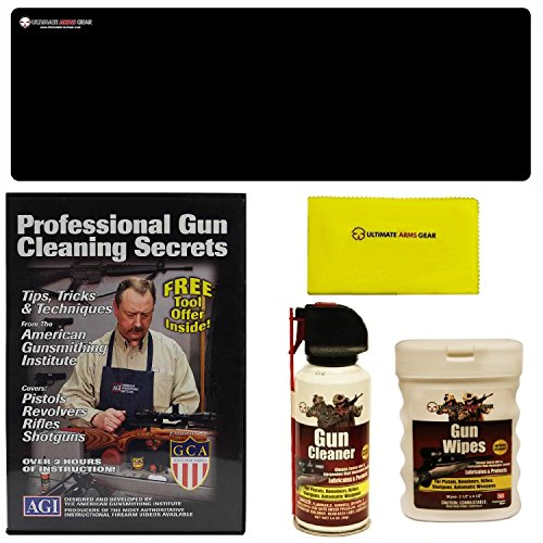 American Gunsmithing Institute DVD Professional Gun Cleaning Course Secrets Glock Model 17 17L 18 19 20 21 22 23 24 24C 31 32 37 Pistol Handgun + Ultimate Arms Gear Gunsmith & Armorer's Cleaning Bench Gun Mat (Winchester Model 21 compare prices)