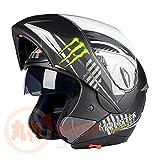 バイクヘルメット システムヘルメット フルフェイス ジェット ダブルシールド 今年バージョンアップBLD158[08.商品8/L]