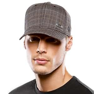 Oakley Metal Square O Men's Casual Hat/Cap - Grey Plaid / Small/Medium