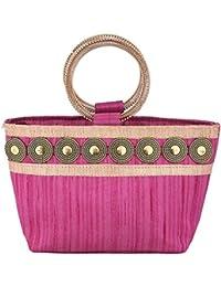 Sunbeams Ethnic Coin Bangle Hand-Held Bag (Pink)