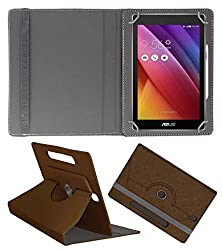 Acm Designer Rotating Case For Asus Zenpad C 7.0 Z170mg Stand Cover Brown