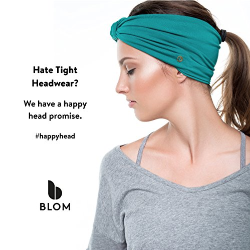 BLOM Multi Style Headband for Sports or Fashion, Yoga or Travel. Happy Head Guarantee - Super Comfortable. Designer Style & Quality (Stone Grey & Silver Grey)