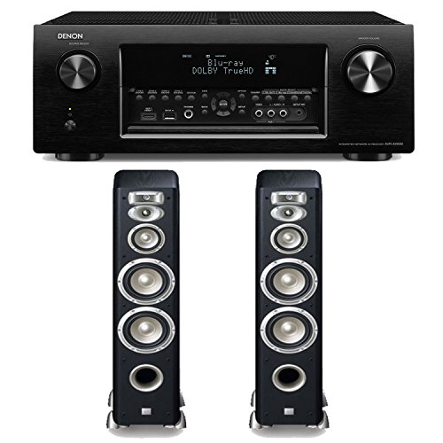 Denon Avr-X4000 7.2-Channel 4K Ultra Hd Networking Home Theater Receiver Plus A Pair Of Jbl Studio L880 4-Way High Performance Floorstanding Speakers