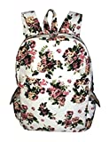 Crafts My Dream Women's Backpack Handbags Beige Rose Print Cmd184