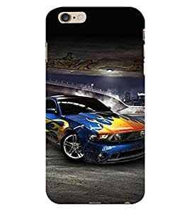 99Sublimation Sports Car 3D Hard Polycarbonate Back Case Cover for Apple iPhone 6 Plus