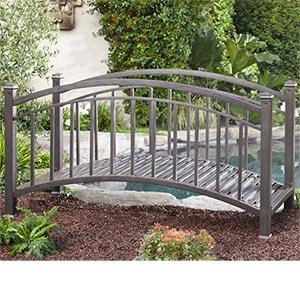 Backyard privacy screens ideas car interior design for Metal garden bridge designs