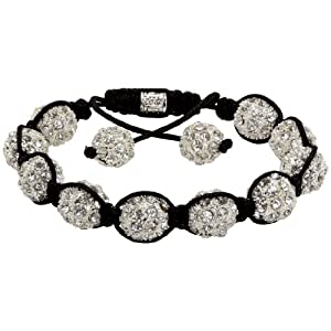 Royal Diamond Clear Crystal Shamballa Swarovski Crystal Stone Balls Shamballa Bracelet (9 COLORS TO CHOOSE FROM)
