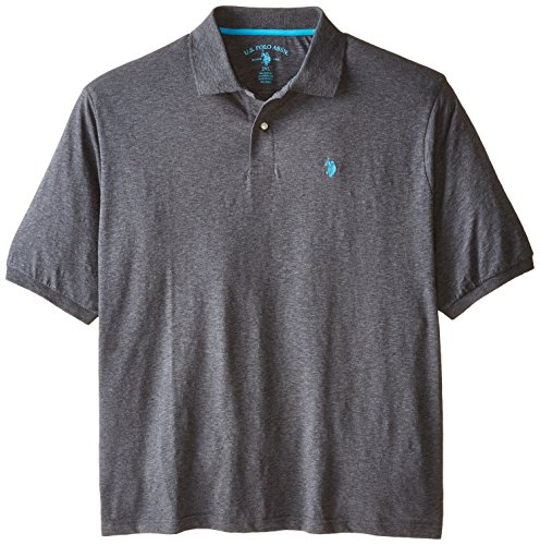 U S Polo Assn Men 39 S Big Tall Slim Fit Slub Solid Polo