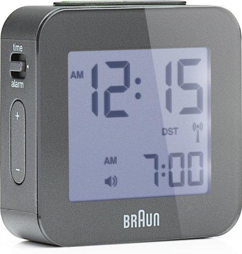 BRAUN - BNC008GY-RC - Réveil de voyage digital - gris