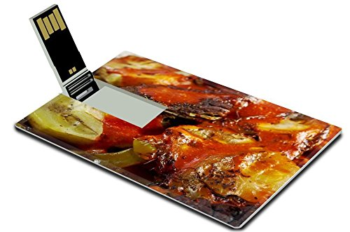 Luxlady 32GB USB Flash Drive 2.0 Memory Stick Credit Card Size IMAGE ID: 22086719 Beef Ragout with wine sauce and vegetables on pan on french farm style (Vista Sauce Pans compare prices)