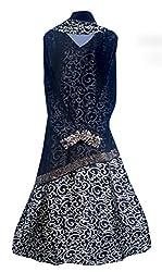 Justkartit Women's Black & Beige Colour Printed Satin + Chiffon With Diamond Stone Work Stylish Burkha / Stylish Islamic Burkha For Young Women / Latest Fashionable Abhaya (Maximum Chest Size 40 Inch)