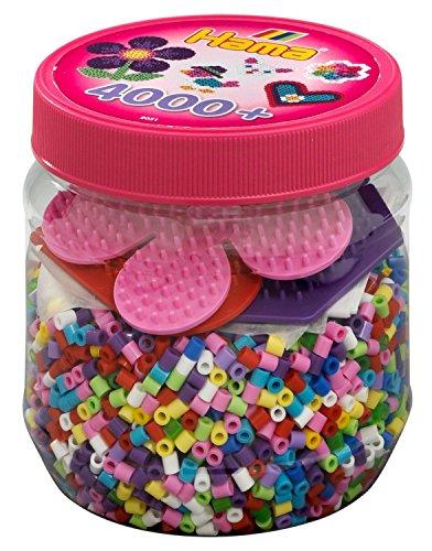 Hama 2051 - Bügelperlen Dose mit circa 4.000 Perlen und Zubehör von Hama