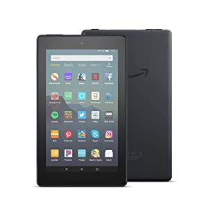 Fire 7 Essentials Bundle including Fire 7 Tablet (Black, 16GB), Amazon Standing Case (Charcoal Black), and Nupro Anti-Glare Screen Protector (Color: Black)