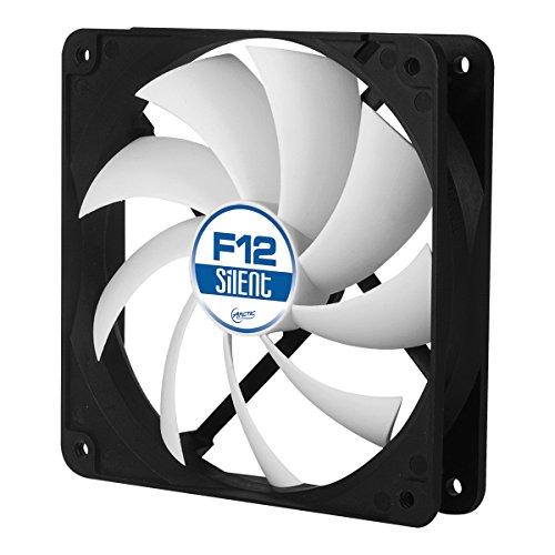 ARCTIC F12 Silent, Ventilateur 120 mm 3 Pin avec boîtier standard et haut flux d'air, ventilation silencieuse et efficace