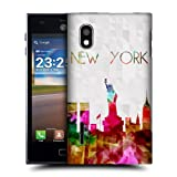 Head Case Designs Statue of Liberty New York USA Watercoloured Skyline Hard Back Case Cover for LG Optimus L5 E610