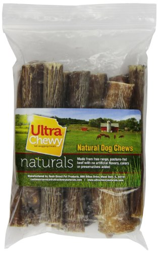Rush Direct Ultra Chewy Naturals Odor-Free Thick Bully Sticks for Dogs, 6 Inch