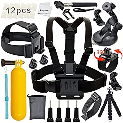 Erligpowht Outdoor Sports Essential Kit for sj4000/sj5000 cameras and GoPro Hero 4/3+/3/2/1
