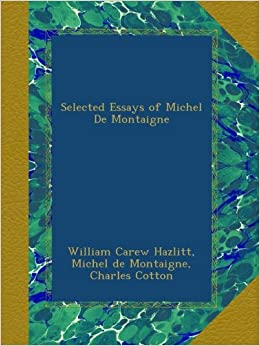 michel de montaigne essays amazon