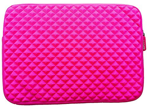 "AZ-Cover 13.3-Inch Simplicity Stylish Diamond Foam Shock-Resistant Neoprene Sleeve (HOT PINK) For Onyx BOOX MAX 13.3"" E Ink Pearl Display + One Capacitive Stylus Pen at Electronic-Readers.com"