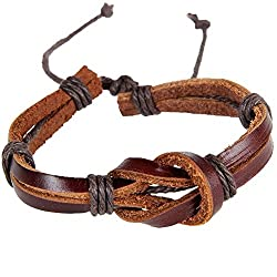 Sorella'z Retro 8 Shaped Knot Brown Bracelet