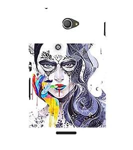 PRINTSWAG GIRL ART Designer Back Cover Case for SONY XPERIA E4 DUAL