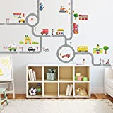 Decowall, DM-1404, The Road and Car Wall Stickers