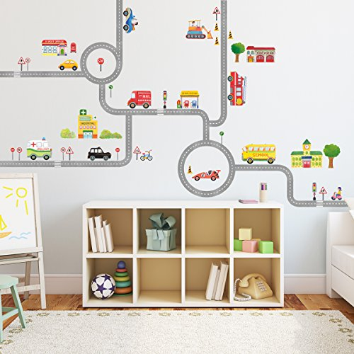 DM-1404, The Road and Cars Wall Stickers