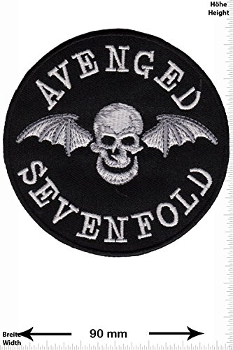 Patch - Avenged Sevenfold - A7X - US-Metal - MusicPatch - Rock - Chaleco - toppa - applicazione - Ricamato termo-adesivo - Give Away