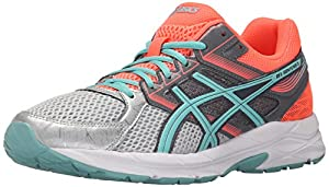 ASICS Women's Gel-Contend 3 Running Shoe, Silver/Pool Blue/Flash Coral, 10 M US