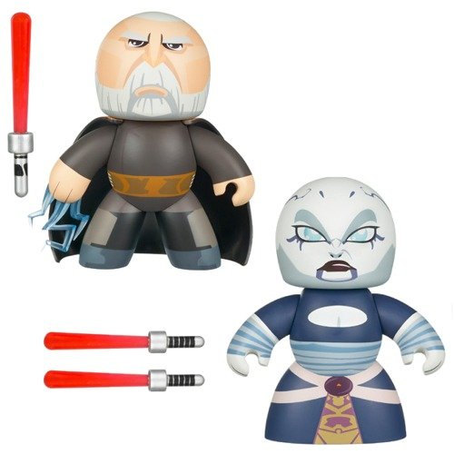 Star Wars Mighty Muggs Count Dooku and Asajj Ventress