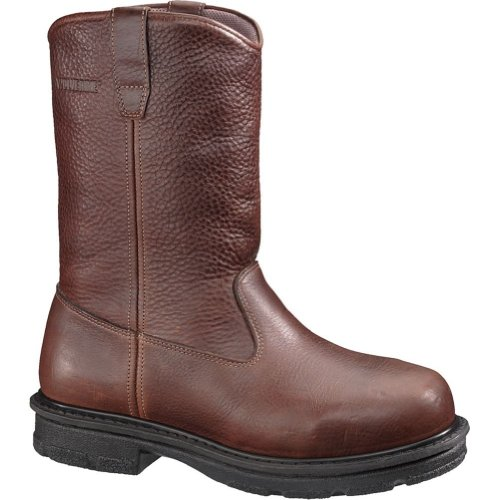 Wolverine Men'S Fusion Safety Chocolate Leather Boot D Us
