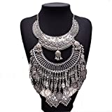 Luxury Egyptian Coin Style Costume Silver Jewelry Best Gift Charm Necklace For Womens