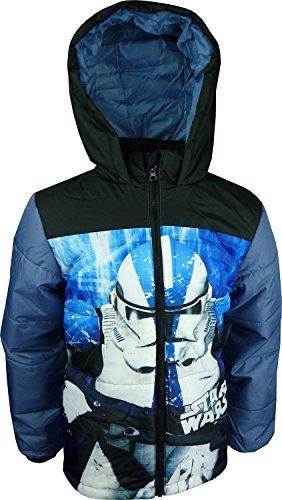 Star Wars Bambini e ragazzi inverno Giacca con cappuccio Blu Marino-4 Anni / 104 cm
