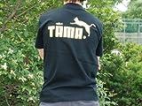 TAMA 両面プリント ブラック 半袖 Tシャツ